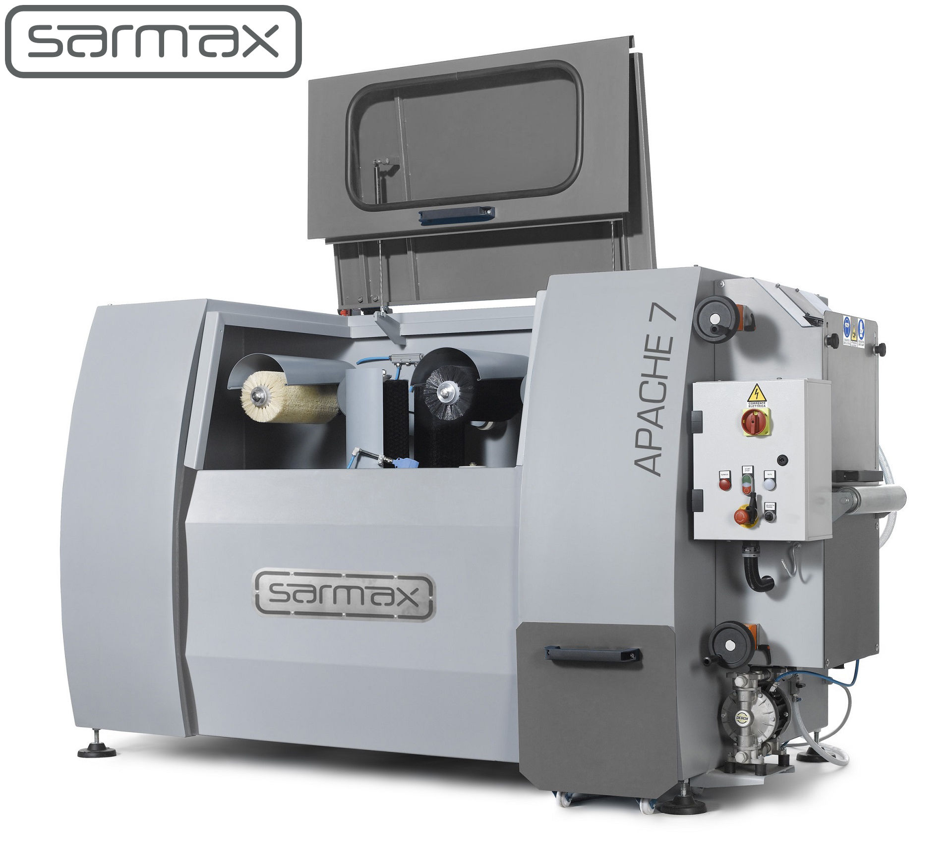 apache timber flow coating machine by sarmax