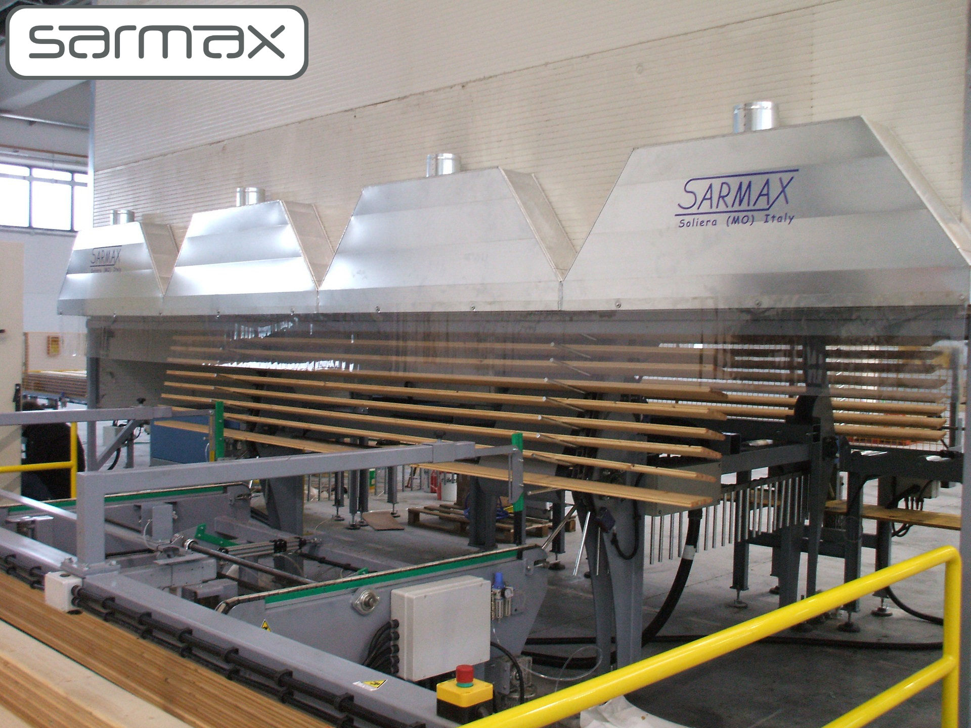 automated gas fired drying oven for timbers after being flow coated by sarmax
